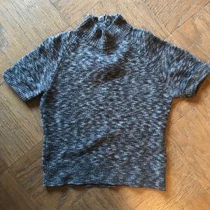 Cozy Jones & Co Short Sleeve Mock Neck Top